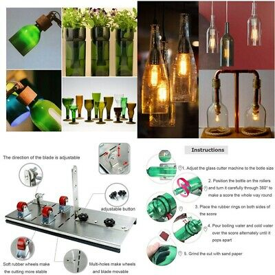 Glass Bottle Cutter Machine Beer Wine Jar Craft Recycle DIY Cutting Tool Kit