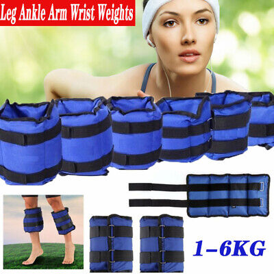 1-6KG Ankle Wrist Weights Exercise Training Fitness Running Resistance Training