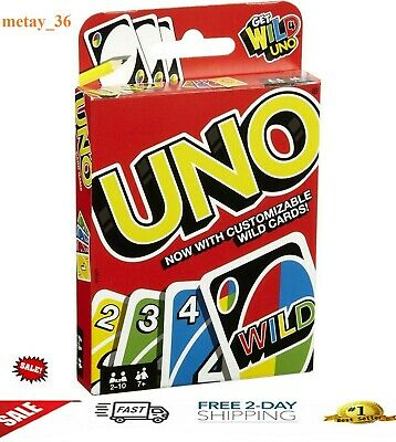 Uno Original Playing Cards Game Family Party Board Plastic NEW