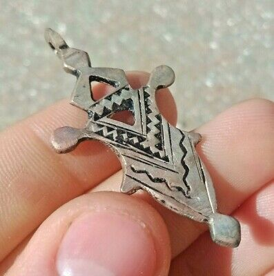Ancient Viking Norse Solid Silver Thor's Hammer Detailed Amulet Circa 800-900 Ad