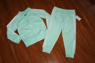 Nwt Girls Adidas Sz 5 Jacket, Pants Tracksuit Green