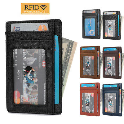 RFID Minimalist Wallet Gift for Son Daughter from Mom Dad Slim Card Holder Purse