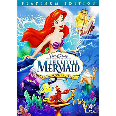 The Little Mermaid (DVD, 2006, 2-Disc Set, Platinum Edition) Slipcover Included