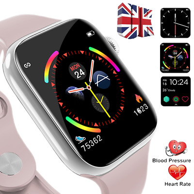 Smart watch Waterproof Blood pressure Heart rate Fitness Trackers Android IOS UK