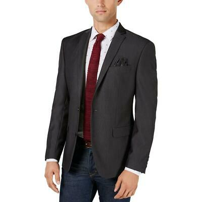 Bar III Mens Black Slim Fit Suit Separate Sportcoat Jacket 42S BHFO 6633
