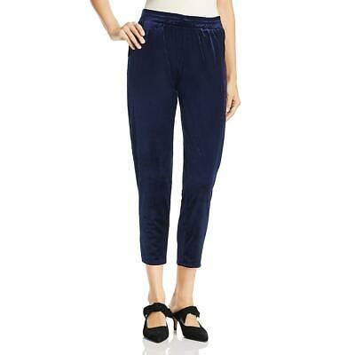 Three Dots Womens Velvet Pull On Party Straight Leg Pants BHFO 8422