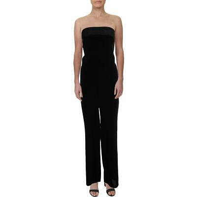 Aqua Womens Velvet Split-Leg Off-The-Shoulder Jumpsuit BHFO 8381