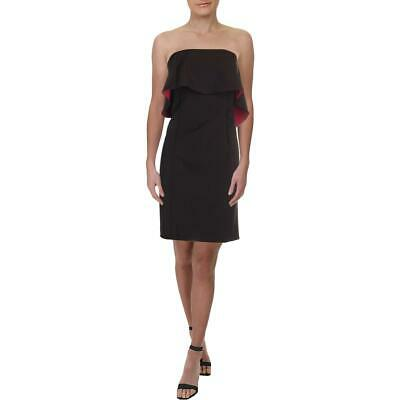 Black Halo Womens Pink Mini One Shoulder Party Cocktail Dress 12 BHFO 0140