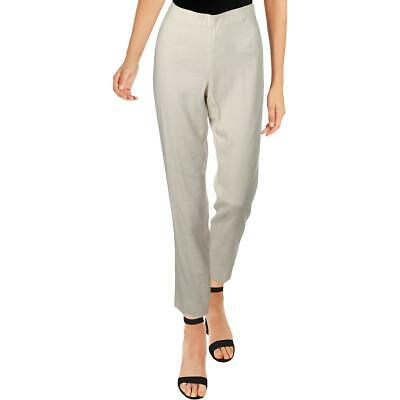 Nic + Zoe Womens Luxe Ivory Linen Blend High-Rise Skinny Ankle Pants 2 BHFO 7445