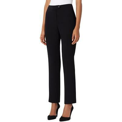 Tahari ASL Womens Black Extended Tab Straight Office Pants Petites 14P BHFO 5319