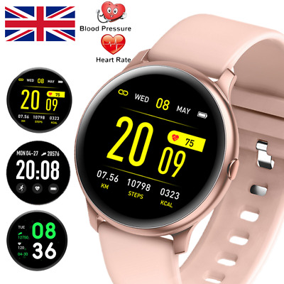 IP68 Smart Watch Sport Heart Rate Blood Pressure Fitness Tracker For Android IOS