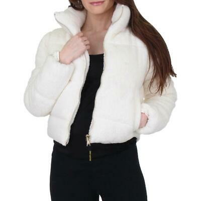 Juicy Couture Black Label Women's Cropped Sherpa Down Winter Puffer Coat