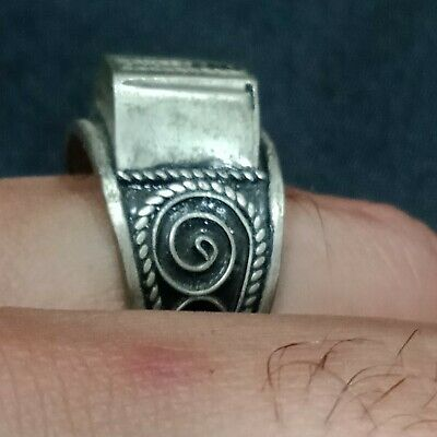 Rare Ancient medieval authentic silver Ring Musueum Quality Artifact