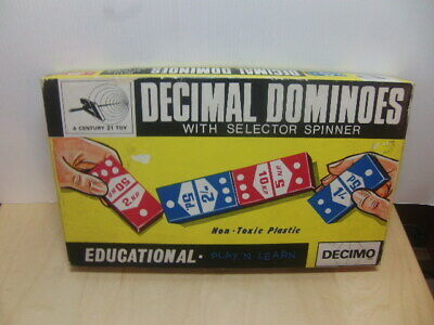 Decimal Dominoes – with Selector Spinner a Century 21 Toy c1970