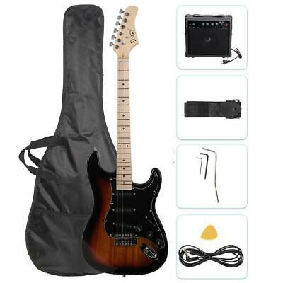 """Glarry 39"""" Electric Guitar for Music Lover Beginner with 20W Amp Sunset"""