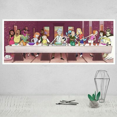 Rick and Morty Rick Cartoon Animation Art Canvas Poster Room Decoration Printing