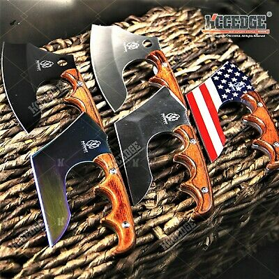 """4.75"""" Tactical Fixed Blade Knife Full Tang Razor Sharp Specialty Blade Wood"""