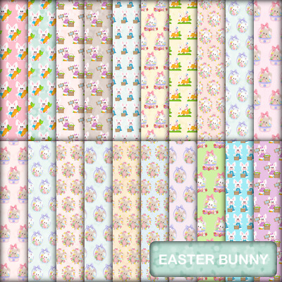 EASTER BUNNY SCRAPBOOK PAPER - 20 x A4 pages