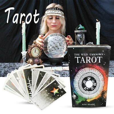 78Pcs The Wild Unknown Tarot Deck Rider-Waite Oracle Set Fortune Telling Card