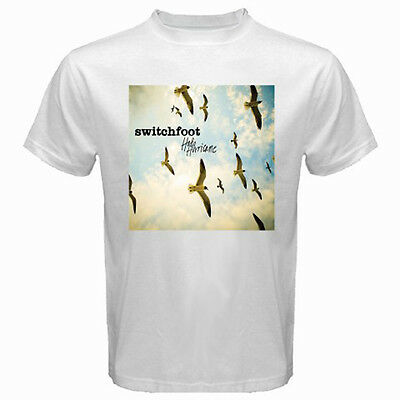 New SWITCHFOOT Hello Hurricane Rock Band Men's White T-Shirt Size S to 3XL