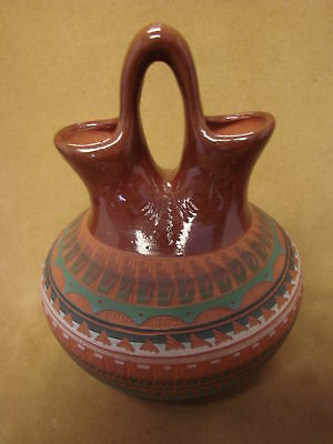 Native American Indian Hand Etched Wedding Vase by Mirelle Gilmore! PT4347