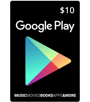 $10 Google PLAY Store USA Card - 10 Dollar Google Play Android USD Code