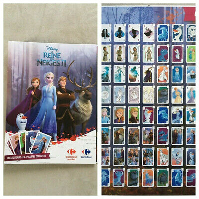 Album Collector Complet Avec 72 Cartes La Reine Des Neiges 2 Carrefour
