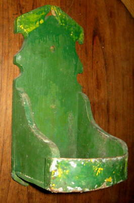 Handsome Antique Primitive Candle Stand, Wall Shelf Best Form, Old Paint Aafa Nr