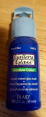 PLAID Gallery Glass Window Color paint Royal  blue 16012 bottles 59ml (2oz) new