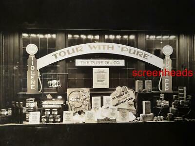 C1935-36 PURE OIL CO. ADVERTISING PHOTO PREMIUM SIGN PRODUCTS Jimmie Mattern VG