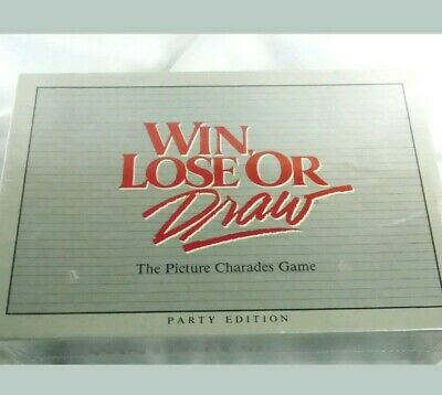 RARE New sealed Win Lose or Draw Party Edition 1988 Picture Charades Game