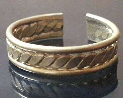 Adjustable Unique Ancient Viking Bronze Twisted Ring Rare Lake Ladoga Antique