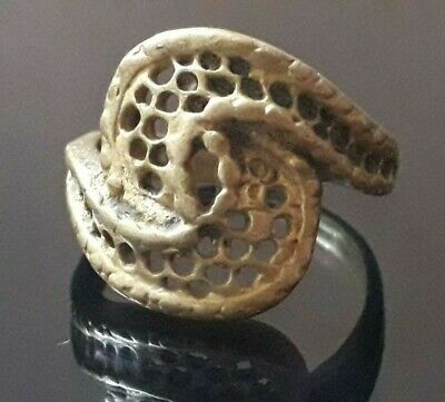 Ancient Bronze Ring Artifact Antique Quality Old Extremly Rare Unique Viking