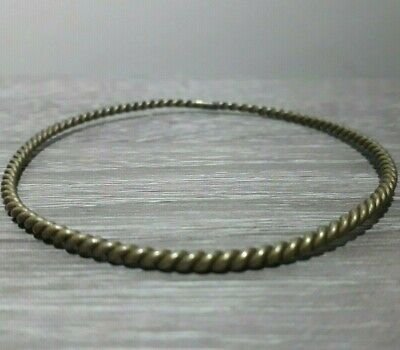 Ancient Bronze Bracelet Twisted Solid Unique Rare Viking Type Antique Artifact