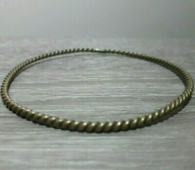 Ancient Bronze Bracelet Twisted Solid Very Rare Viking Type Artifact Jewelry