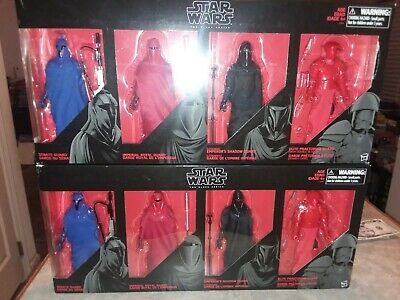"STAR WARS THE BLACK SERIES TWO sealed sets ROYAL GUARD 6"" 4-PACK EMPEROR'S ELITE"