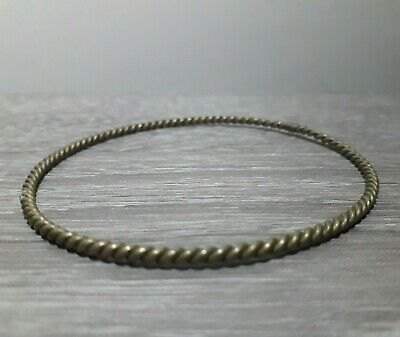 Extremely Rare Ancient Bronze Unique Bracelet Twisted Antique Viking Artifact