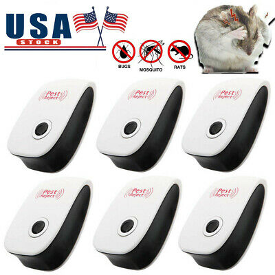 1-6 PACK Electronic Ultrasonic Pest Repeller Repellent Mice Rat Reject Plug In