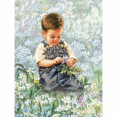 White Flower Diamond Painting Beautiful Wide Field With Baby Picture Decorations