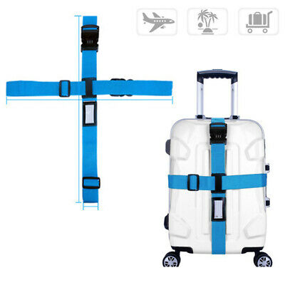Adjustable Luggage Cross Strap Packing Belt Safe Code-lock Suitcase Convinent