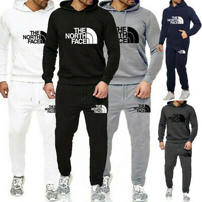 Mens Tracksuit Set Hoodie Top Trousers Bottoms Jogging Sweat Suit Sportswear Gym
