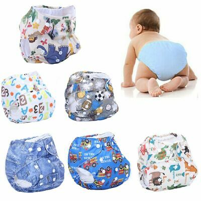 New Newborn Kids Reusable Baby Nappy Washable Adjustable Cloth Diapers Cover