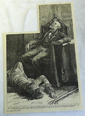 1882 magazine engraving ~ The Withered Hand ~ Murder