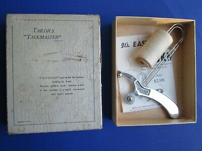 Vintage TAILOR'S TACKMASTER Sewing Tool w/ Orig Box & Instructions DRESSMAKERS