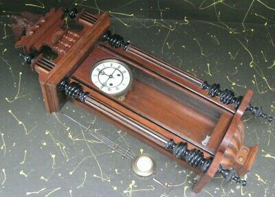 antique R A wall clock, wind-up movement made in Germany