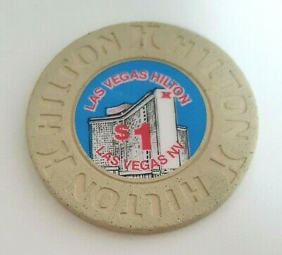 $1 Las Vegas Hilton 1991 Casino Chip - Near Mint