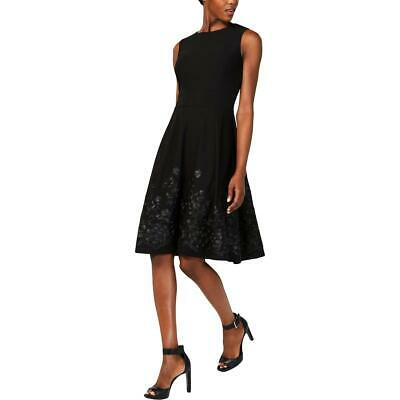 Calvin Klein Womens Embroidered Fit & Flare Cocktail Party Dress BHFO 5071
