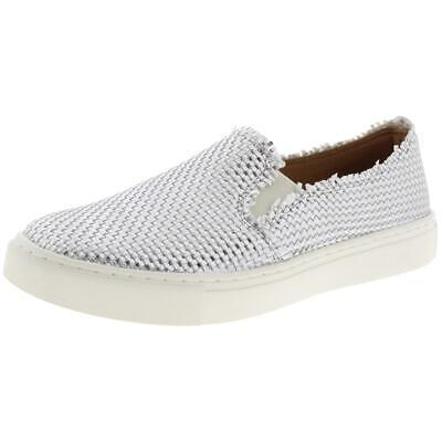 Indigo Rd. Womens Kicky Woven Metallic Slip-On Sneakers Shoes BHFO 1659