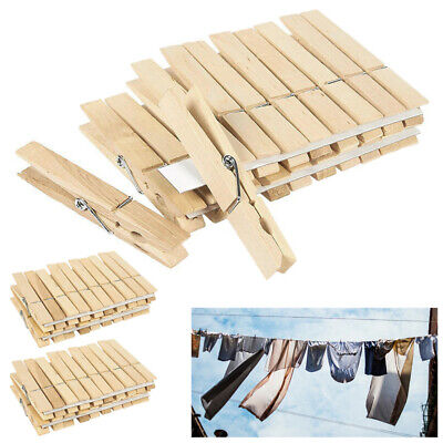 Strong 7-Coil Spring Arts and Crafts Standard Wooden Clothes Pins 32-512 ct