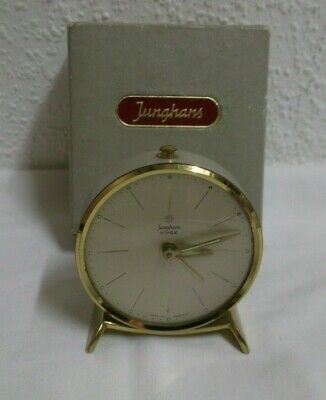 50er 60er Years Watch Junghans Bivox Alarm Clock Table in Boxed Travel 50s 60s